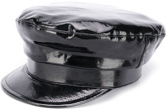 Ann Demeulemeester Patent Leather Baker Boy Hat
