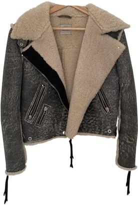 Acne Studios Grey Shearling Jackets