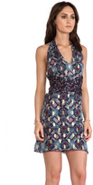 Anna Sui Warp Print Wrap Around Dress