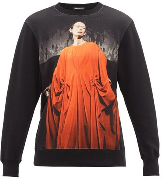 Undercover Tilda Swinton Suspiria-print Cotton Sweatshirt - Womens - Black Multi
