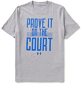 "Under Armour Short-Sleeve Stretch ""Prove It On the Court"" Loose-Fit Graphic Tee"