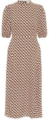 Diane von Furstenberg Nella printed crepe midi dress