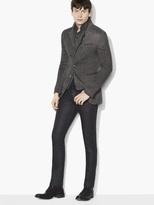 John Varvatos Pick Stitch Asymmetric Cutaway Jacket
