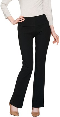 Women With Control Women with Control Petite Tummy Control Low Bell Knit Pants