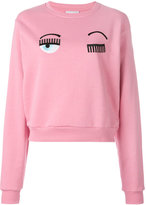 Chiara Ferragni eyes blink sweatshirt - women - Cotton - XS