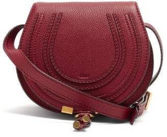 Chloé Marcie Mini Leather Cross-body Bag - Dark Red