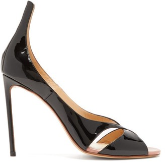 Francesco Russo Patent-leather Stiletto Sandals - Black