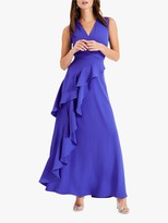Phase Eight Constansie Ruffle Maxi Dress, Azure