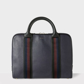 Men's Navy Leather 'City Webbing' Slim Folio