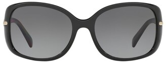 Prada Linea Rossa Rectangle Polarised Sunglasses
