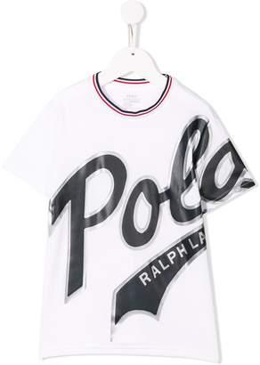 Ralph Lauren Kids oversized logo print T-shirt