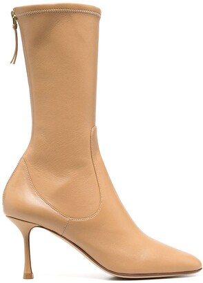 Francesco Russo Rear-Zip Ankle Boots