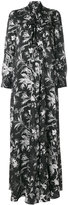 McQ by Alexander McQueen pussy bow maxi dress - women - Polyester - 38