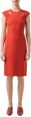 Akris Punto Cutout Jersey Sheath Dress