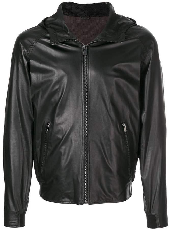 Drome zipped hooded jacket