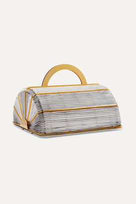 Vanina - La Madeleine Gold-plated And Woven Tote - Silver