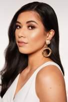 Quiz Silver Pearl Twist Circle Earrings