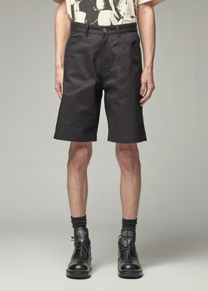 Raf Simons Men's Regular Fit Denim Short with Suspender Pants in Black Size 31 100% Cotton