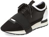 Balenciaga Women's Leather Elastic Sneaker