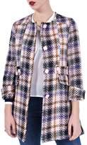 Angela Davis Pastel Plaid Coat