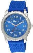 Ravel Men's 5ATM Quartz Watch with Black Dial Analogue Display and Blue Silicone Strap R5-20.6G