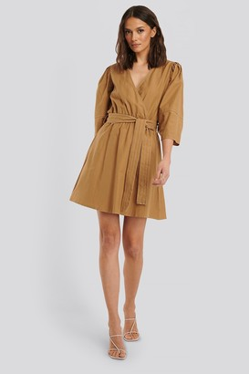 Trendyol Double Breasted Belted Mini Dress