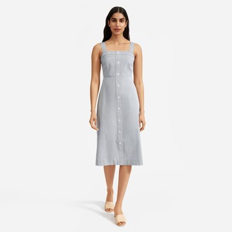 Everlane The Cotton Weave Tank Dress