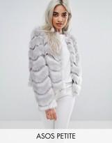 Asos Chevron Faux Fur Jacket