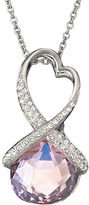 Swarovski Heart Twist Pendant Necklace
