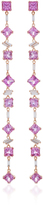Suzanne Kalan One of a Kind 18K Rose Gold Diamond and Sapphire Dangle Earring