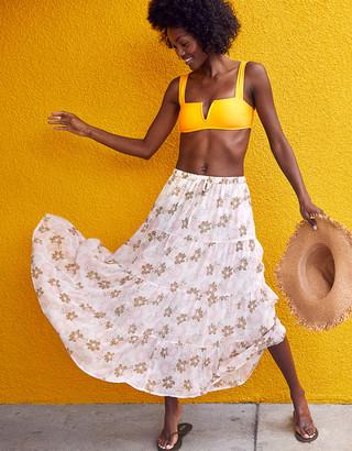 aerie Chiffon Midi Skirt