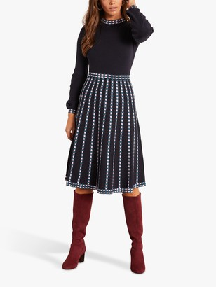 Boden Dollie Knitted Abstract Knee Length Dress