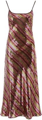 Rixo Sylvie Sequin Maxi Dress