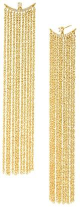Celara 14K Yellow Gold & Diamond Fringe Earrings
