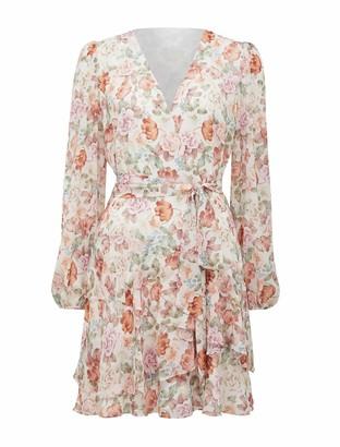 Forever New Rachel Floral Skater Dress - Vintage Light Wash Floral - 10
