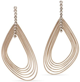 H.Stern Mixed Gold and Diamond Iris Earrings