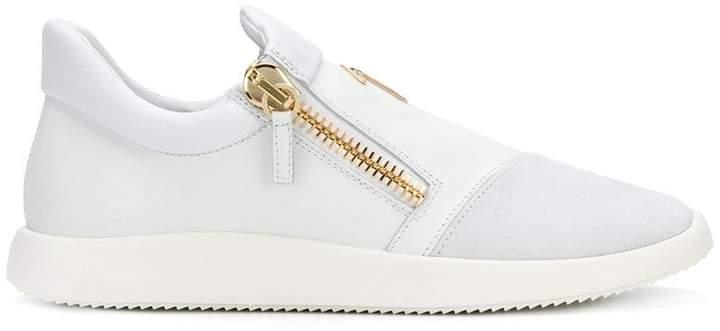 Giuseppe Zanotti Design zipped logo sneakers