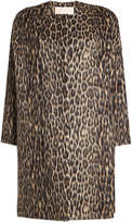 Brock Collection Leopard Print Coat with Wool and Alpaca