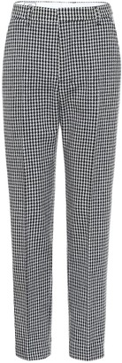 Ami Houndstooth wool-blend pants