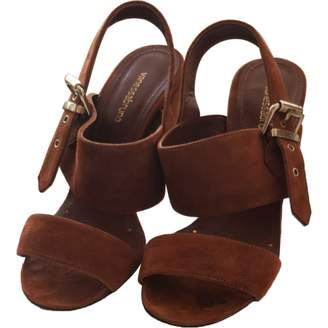 Vanessa Bruno Camel Suede Sandals