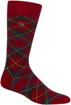 Polo Ralph Lauren Men's Plaid Dress Singe Socks