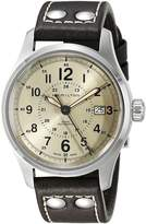 Hamilton Men's H70595523 Khaki Field Analog Display Swiss Automatic Brown Watch