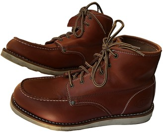 Dickies Red Leather Boots
