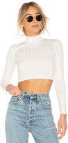 Privacy Please x REVOLVE Perks Crop Top in Ivory. - size L (also in M,S,XS)
