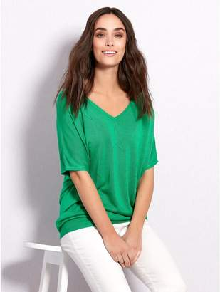 M&Co Star pointelle knit top