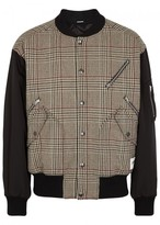 Stella Mccartney Checked Wool Blend Bomber Jacket