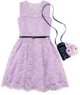 Knitworks Knit Works Belted Sleeveless Skater Dress Girls
