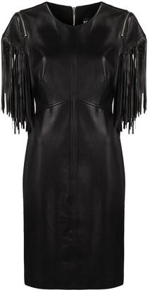 Boutique Moschino Fringed Sleeve Midi Dress