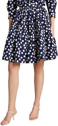 Carolina Herrera Cotton Skirt with Ruffled Waistband