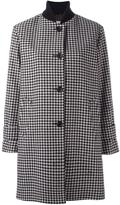 Alberto Biani houndstooth single breasted coat